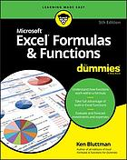 Excel Formulas and Functions for Dummies.