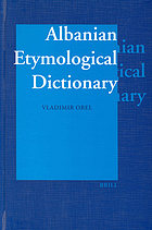 Albanian etymological dictionary
