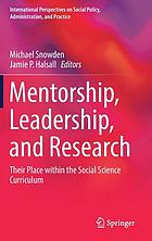 Mentorship, leadership, and research : their place within the social science curriculum