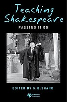 Teaching Shakespeare : passing it on