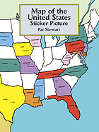 Map of the united states : sticker picture.