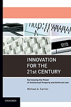 Innovation for the 21st century : harnessing the power of intellectual property and antitrust law
