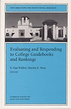 Evaluating and responding to college guidebooks and rankings