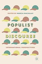 Populist discourse : international perspectives