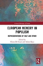 European memory in populism : representations of self and other