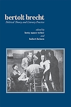 Bertolt Brecht, political theory and literary practice