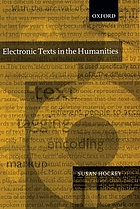 Electronic texts in the humanities : principles and practice