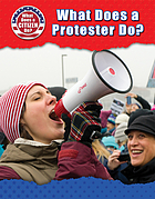 What does a protester do?