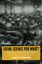 Social science for what? : philanthropy and the social question in a world turned rightside up