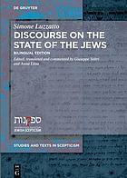 Discourse on the State of the Jews : bilingual edition
