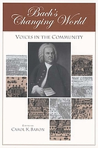 Bach's changing world : voices in the community