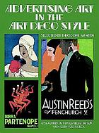 Advertising art in the Art Deco style