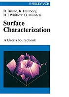 Surface characterization : a user's sourcebook