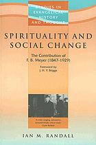 Spirituality and social change : F.B. Meyer, 1847-1929