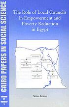 Role of local councils in empowerment and poverty reduction in Egypt