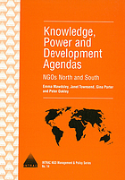 Knowledge, power and development agendas NGOs North and South