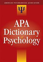apa dictionary of psychology book 2007 worldcat org