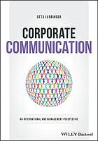 Corporate Communication : an International and Management Perspective