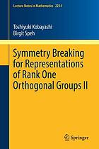 Symmetry breaking for representations of rank one orthogonal groups II