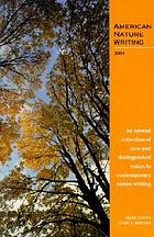 American nature writing, 2001