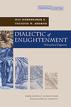 Dialectic of enlightenment : philosophical fragments