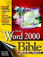 Microsoft Word 2000 bible