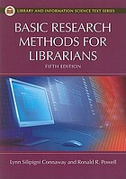 Basic research methods for librarians