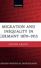 Migration and inequality in Germany : 1870-1913