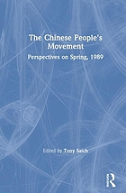 The Chinese people's movement : perspectives on spring 1989