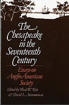The Chesapeake in the seventeenth century : essays on Anglo-American society