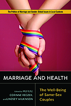 Marriage and Health : the well-being of same-sex couples