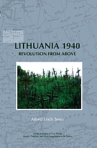 Lithuania 1940 : revolution from above