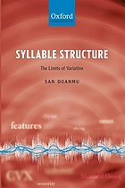 Syllable structure : the limits of variation