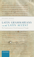 Latin grammarians on the Latin accent : the transformation of Greek grammatical thought