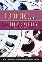 Logic and philosophy : a modern introduction