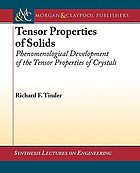 Tensor properties of solids : phenomenological development of the tensor properties of crystals