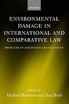 Environmental damage in international and comparative law : Problems of definition and valuation