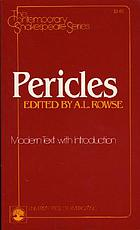 Pericles, Prince of Tyre : modern text with introduction