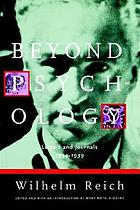 Beyond psychology : letters and journals, 1934-1939