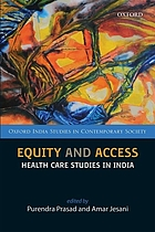 Equity and access : health care studies in India