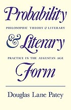 Probability and literary form : philosophic theory and literary practice in the Augustan age