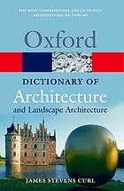 A dictionary of architecture and landscape architecture