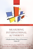 Measuring international authority : a postfunctionalist theory of governance. Volume III