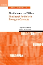 The coherence of EU law : the search for unity in divergent concepts