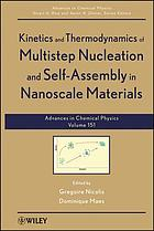 Kinetics and thermodynamics of multistep nucleation and self-assembly in nanoscale materials