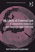 The limits of criminal law : a comparative analysis of approaches to legal theorizing