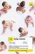 Baby names by  Victoria Wilson