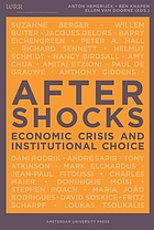 Aftershocks : Economic Crisis and Institutional Choice.
