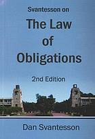 Svantesson on the law of obligations