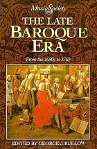 The late baroque era : from the 1680s to 1740